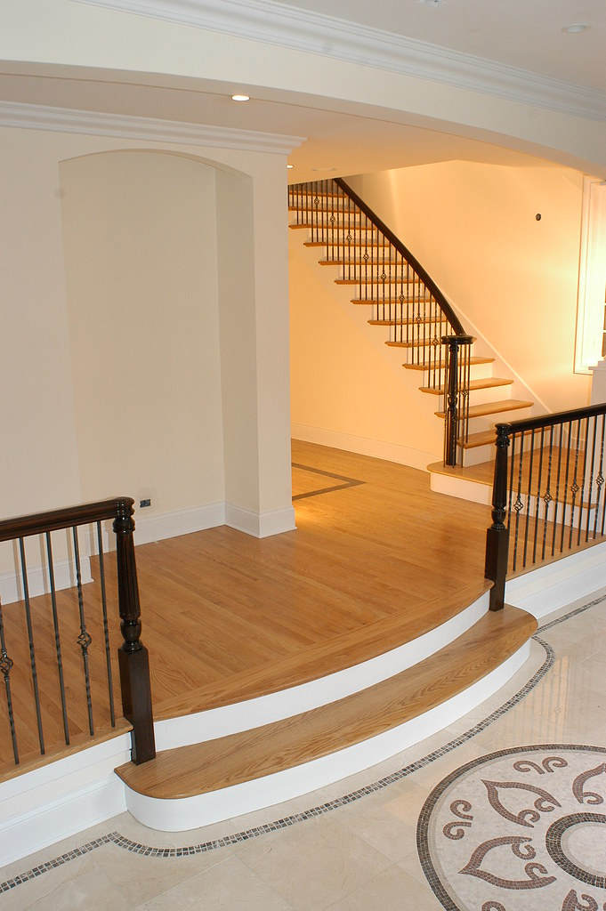 Foyer Stairs Quote : Chase stairwerks stair one step to foyer with