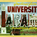 Greetings from University of Alabama, Tuscaloosa, Alabama, Home of the Crimson Tide - Large Letter Postcard