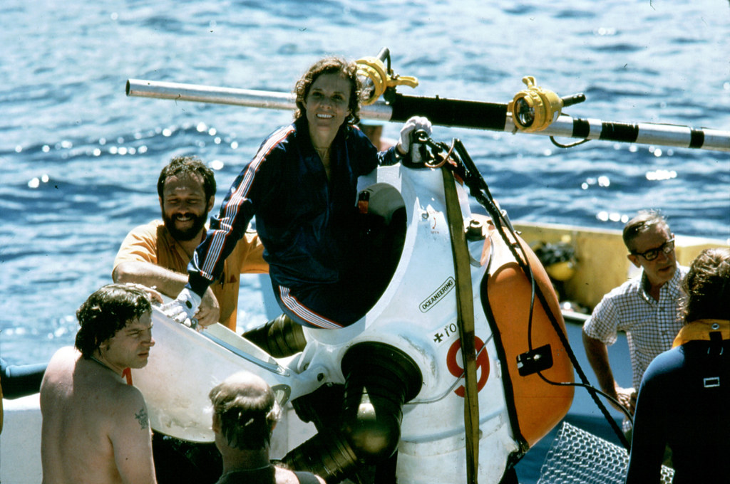 Sylvia Earle gets out ...