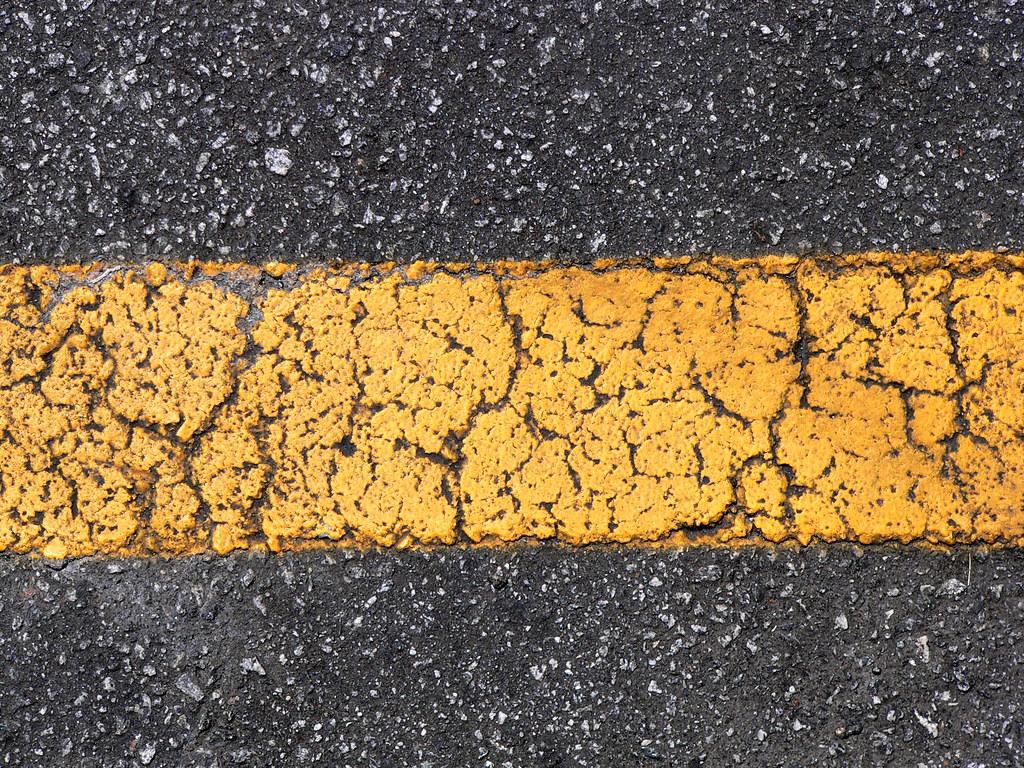 Yellow Stripe On Asphalt Lee Coursey Flickr