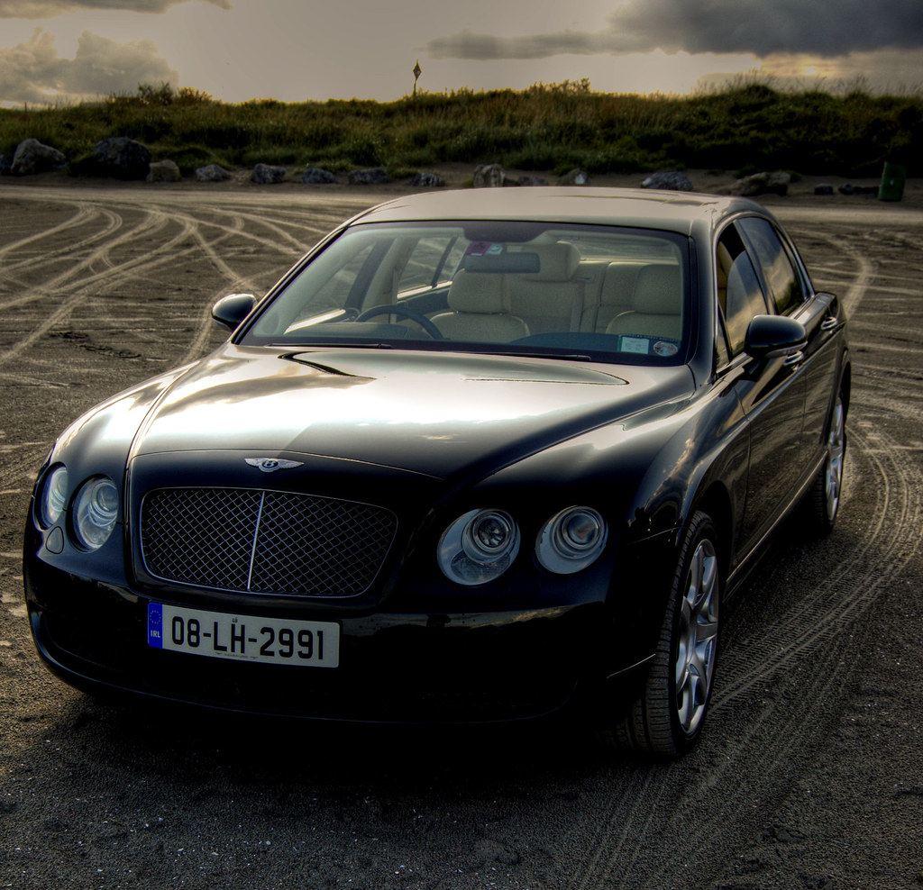 White Bentley Flying Spur Hire: Bentley Continental Flying Spur