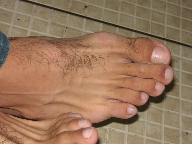 Feet In A Locker Room