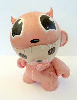 pink devil munny 1 | by buttoneyestoys