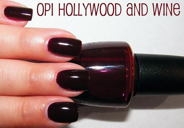 Opi Hollywood And Wine Opi Hollywood And Wine Deep Red J Flickr