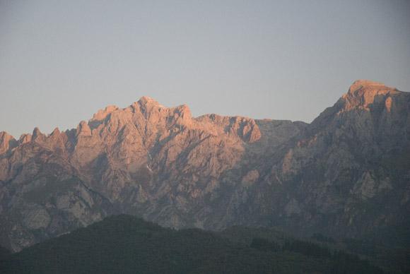 Zentralmassiv der Picos am Morgen