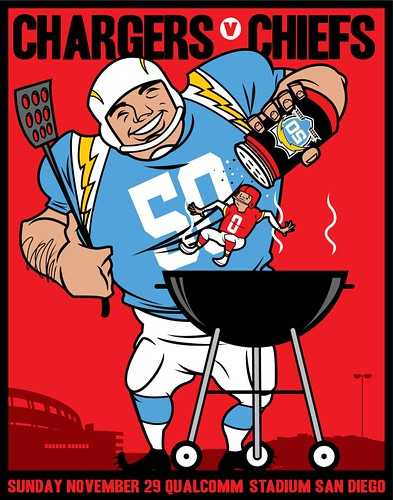 Chargers Vs Chiefs The Poster Series Is A Total Of Four