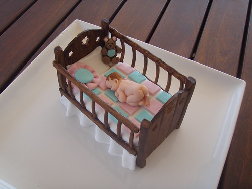Cot Mobile Cake Topper