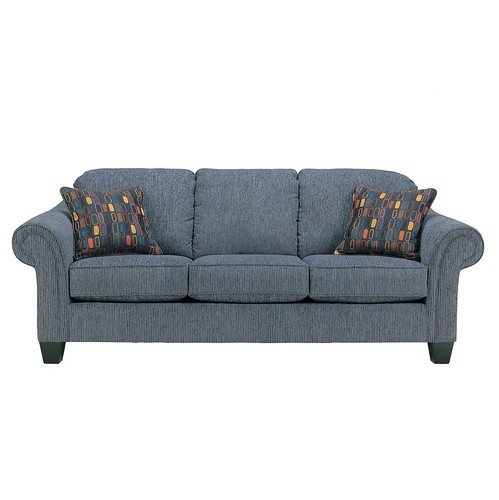 Wedgewood 90 inch casual sofa with tapered legs relaxed for 90 inch couch