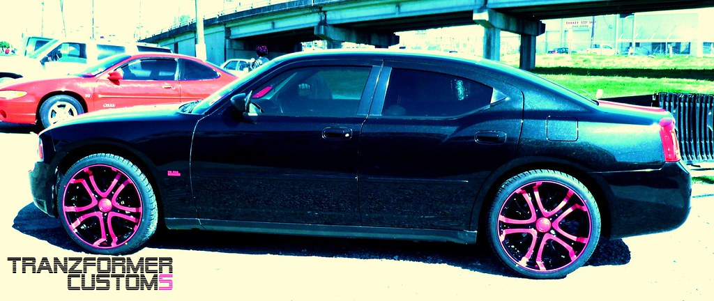 Tranzformer Pink And Black Dodge Charger Side Shot Flickr