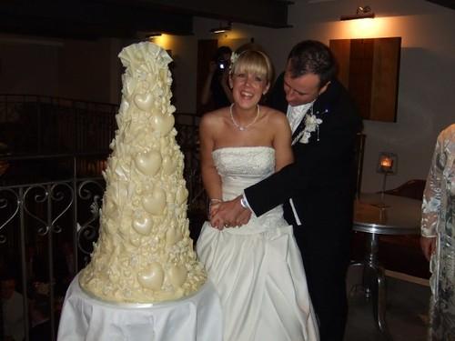 White Chocolate Wedding Cake | Lisa Hilton | Flickr