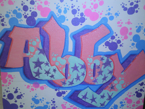 R Graffiti Letters Abby(bubbles) | 14x10 ...