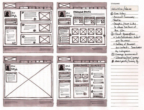 UI wireframe sketches | by gerb888