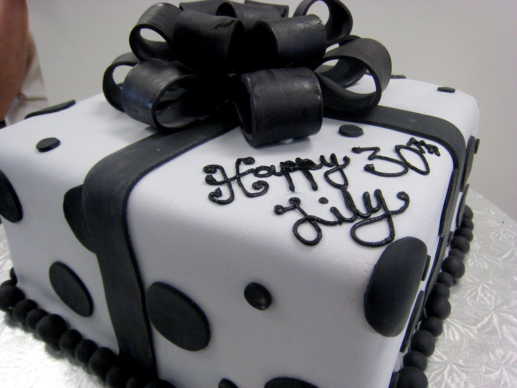 Birthday Cake Gift Images : Whipt Cream Custom Gift Box Birthday Cake This black and ...