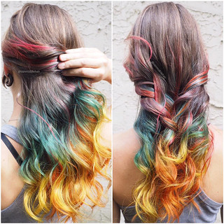 rainbow-ombre-hair-unicorn | by vanmobilehair