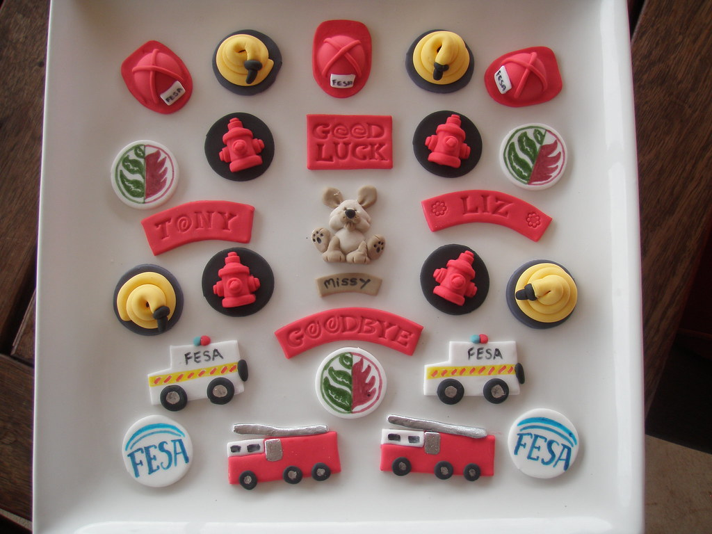 Firefighter Cupcake Decorations Mossys Masterpiece Fireman Cupcake Toppers Hayley Moss Flickr