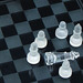 Glass chess with a dead king