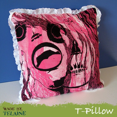 Crazy-Chic T-Pillow front | by telaine