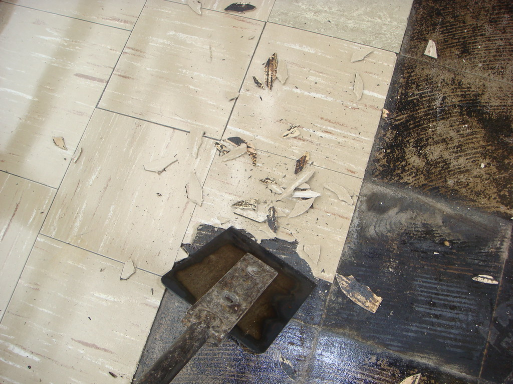 Asbestos Floor Tile Removal Example Of Common Method Of As Flickr