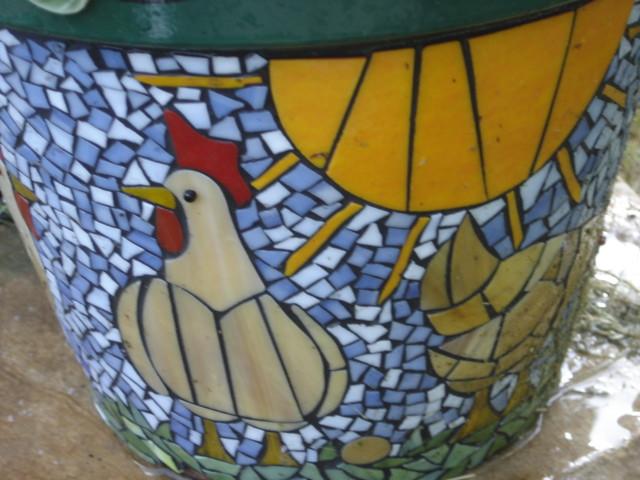 Chicken Mosaic Flower Pot Nancy Bunker Flickr