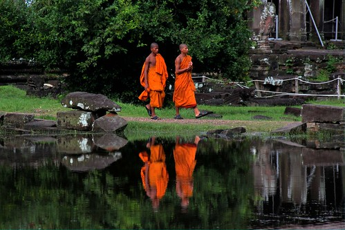 monks in reflection | by jebob