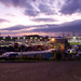 Hednesford Raceway at dusk