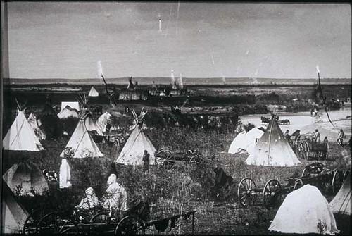 Cheyenne Village On Canadian River Cheyenne Village On