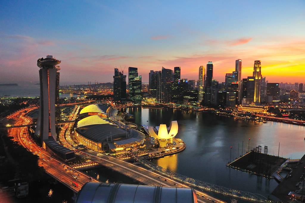 Aerial Sunset View from Singapore Flyer - 2 | Add me on ...