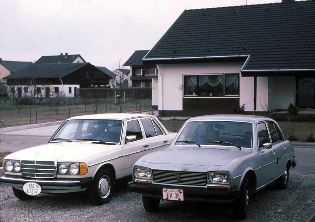New 1979 Mercedes 240d And Old 1975 Peugeot 504 1979 In La Flickr