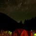 Nemo tents at night, Sun Valley, PressCamp09