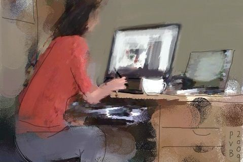 she's trying the intuos | by patricio villarroel bórquez