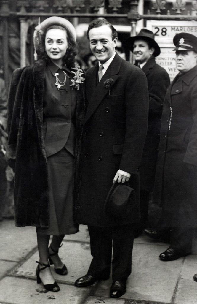 David Niven And Hjordis Tersmeden 1948 Hjordis Was A Swed Flickr