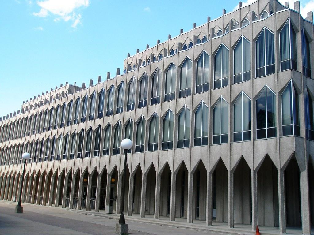 ... Michigan Wayne State University, Architect Minoru Yamasaki, College Of  Education Building, Detroit, Michigan