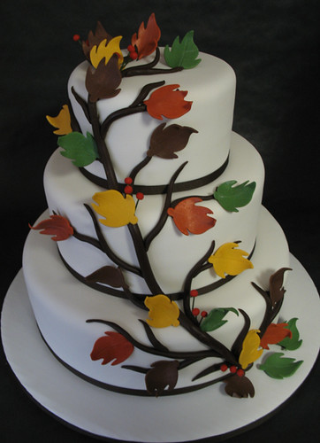 Making Leaves For Cake Decorating : Leaves wedding cake gumpaste leaves with a modeling ...
