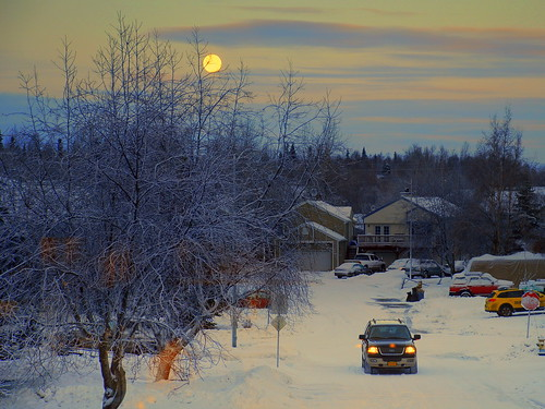 Alaska Anchorage Moonlighting In The Morning | by MarculescuEugenIancuD5200Alaska