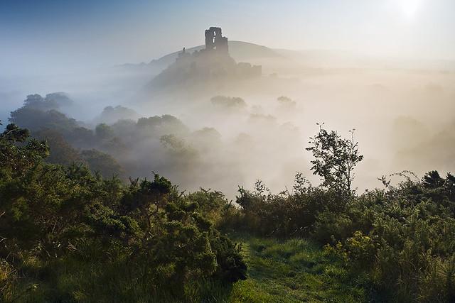 Corfe Castle Mist Ii Gt View Large B L A C K M A G I C
