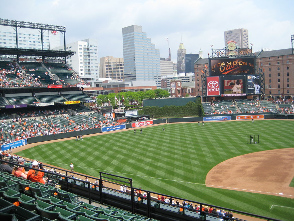 My Seat To Left Field At Oriole Park At Camden Yards Ba Flickr