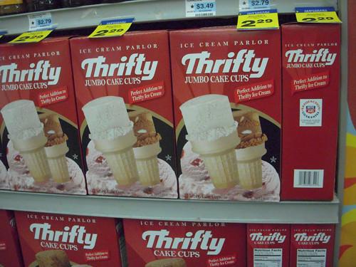 More Thrifty Ice Cream Cones