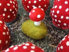 Felt and cork mushrooms