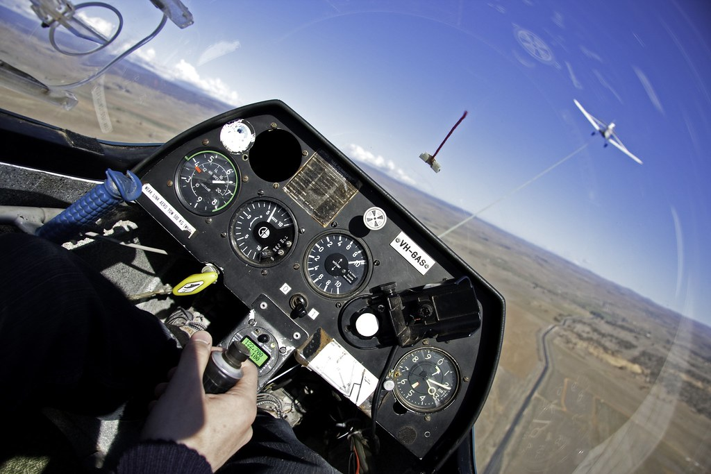 Aerotow In Puchacz 700 Feet 210 Meters Above The