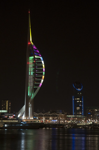 Spinnaker Tower at Night from Gosport 1 | by Jim Nicholson