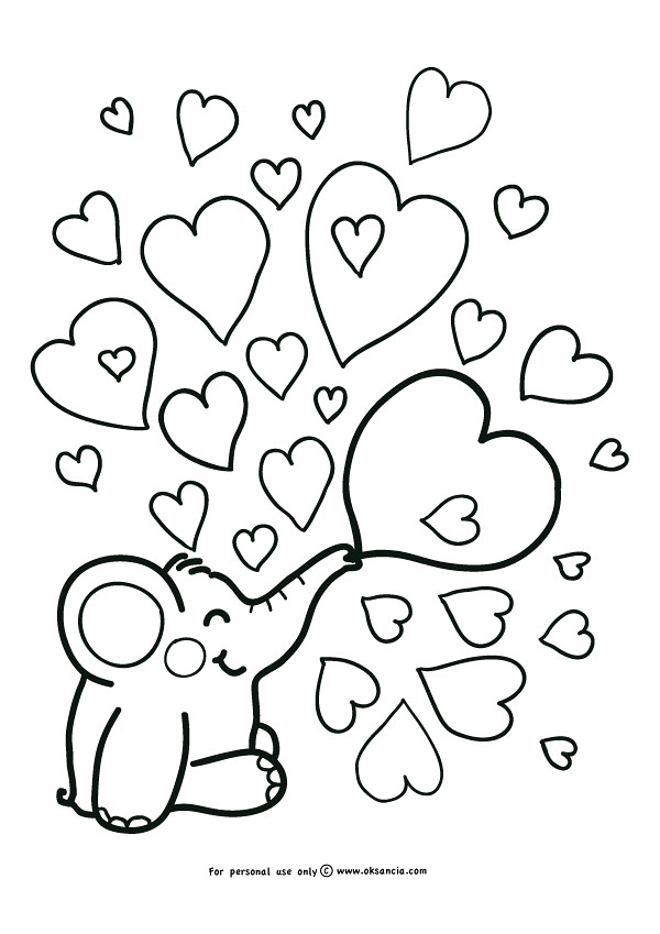 Love Weekly Free Coloring Page By OksanciaFree Number 5 With Adventures Of Rondy