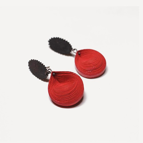 Rolled Paper Earrings - Youngjoo Lee