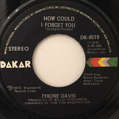 TYRON DAVIS:WITHOUT YOU IN MY LIFE(LABEL SIDE-B)