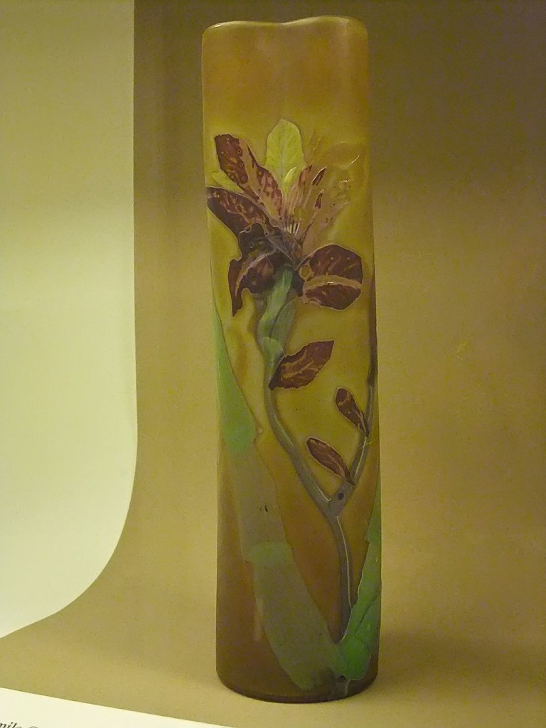 Day Lily Art Nouveau Vase By Emile Galle 1900 Ce Combining Flickr