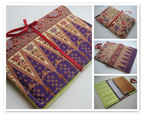 Book Cover Material Japan ~ Batik fabric book jacket cover
