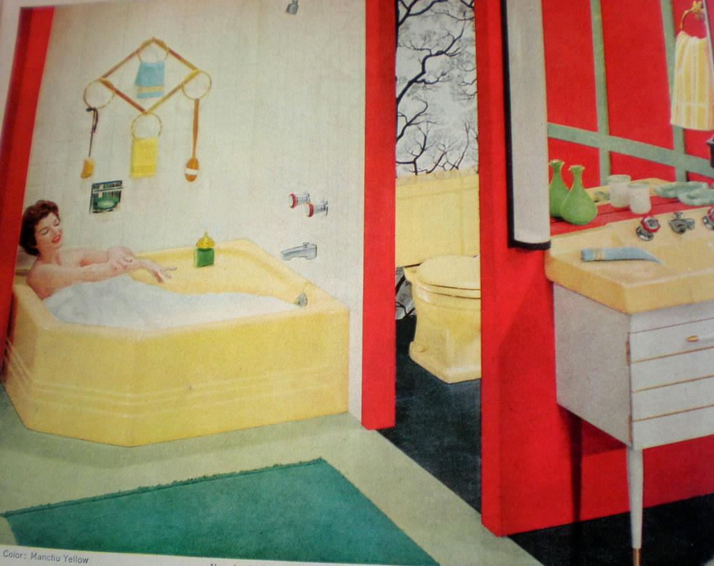 Yellow Red Green Black Bathroom Allison Dow Flickr