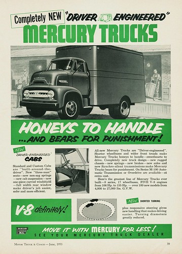 1953 mercury c o e trucks ad canada alden jewell flickr. Black Bedroom Furniture Sets. Home Design Ideas