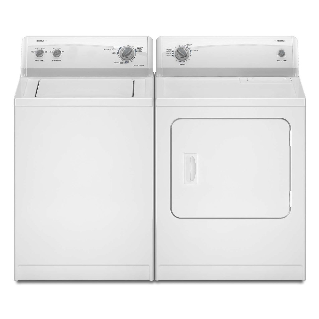 kenmore white 400 series washer and dryer by