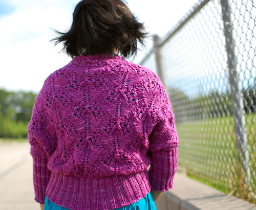 macro lace cardigan, back | by cosmicpluto