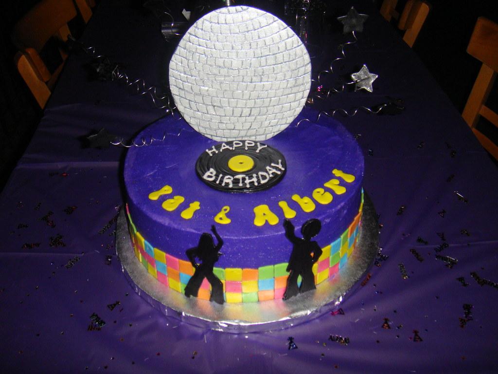 Disco Birthday Cake Ten Inch Round White Cake With Strawbe Flickr